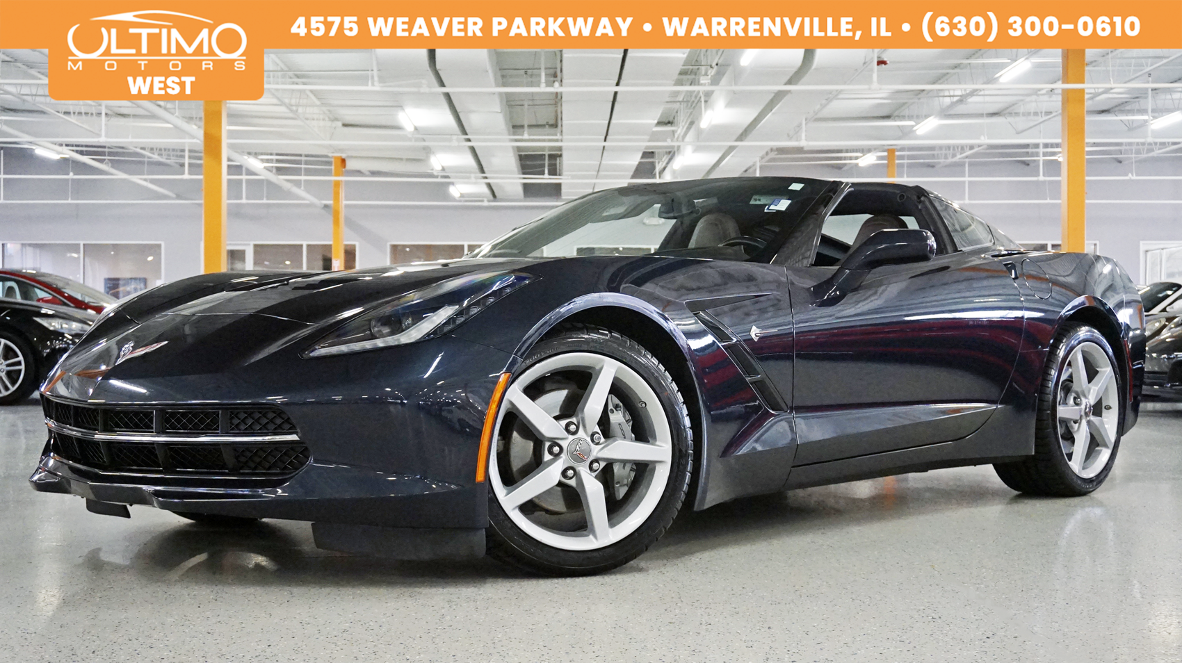 Pre-Owned 2014 Chevrolet Corvette Stingray 3LT Navi, Rear Camera, Heated & Ventilated Seats, 1-Owner