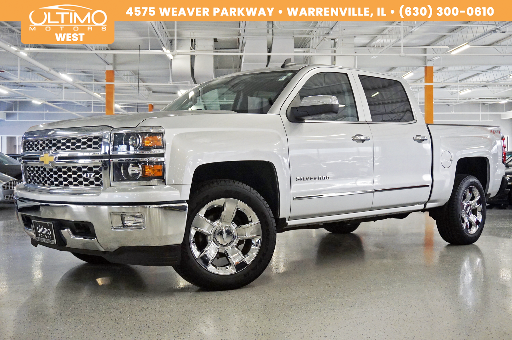 Pre-Owned 2015 Chevrolet Silverado 1500 LTZ 20-Chrome-Wheels, Bose, Rear Camera, 1-Owner
