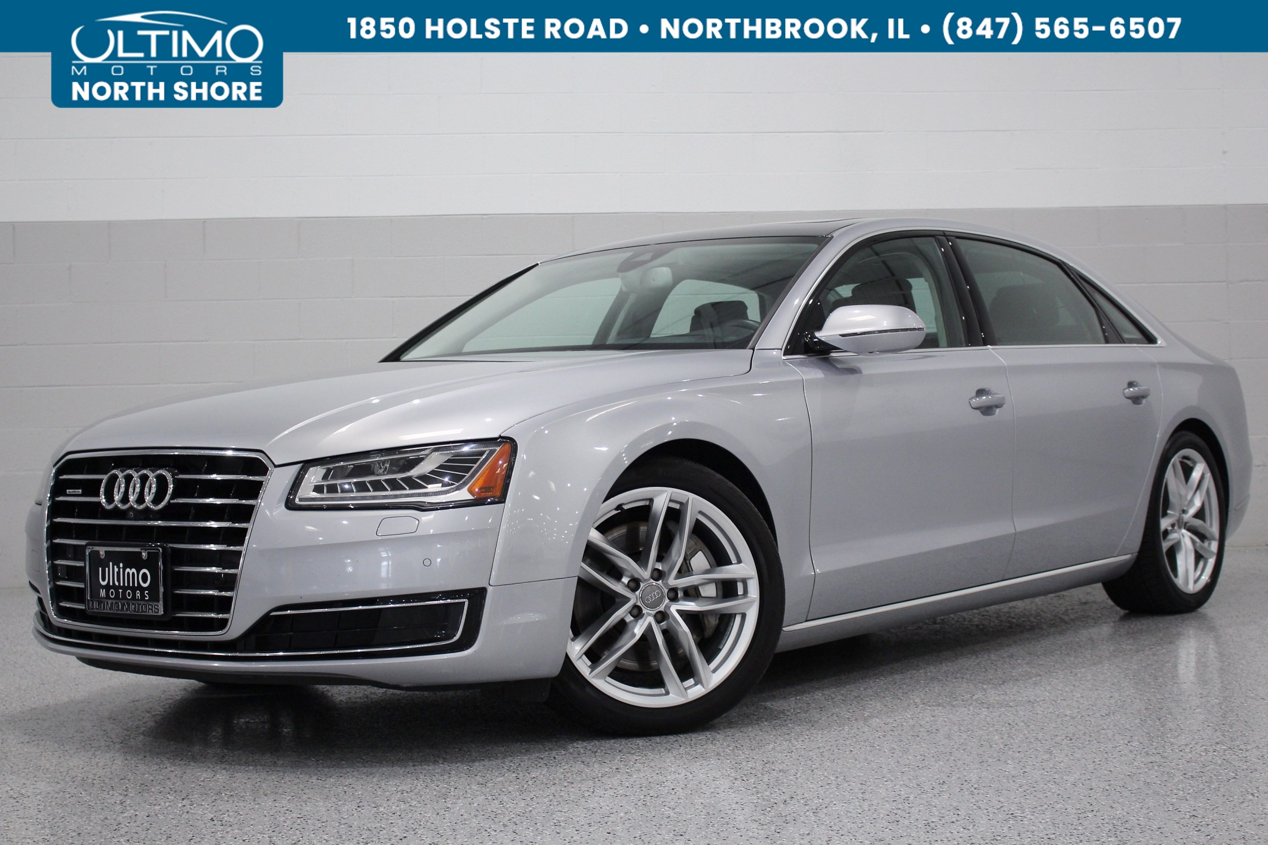 Pre-Owned 2015 Audi A8 L 4.0T, Premium, Sport, Luxury and Cold Weather Package.