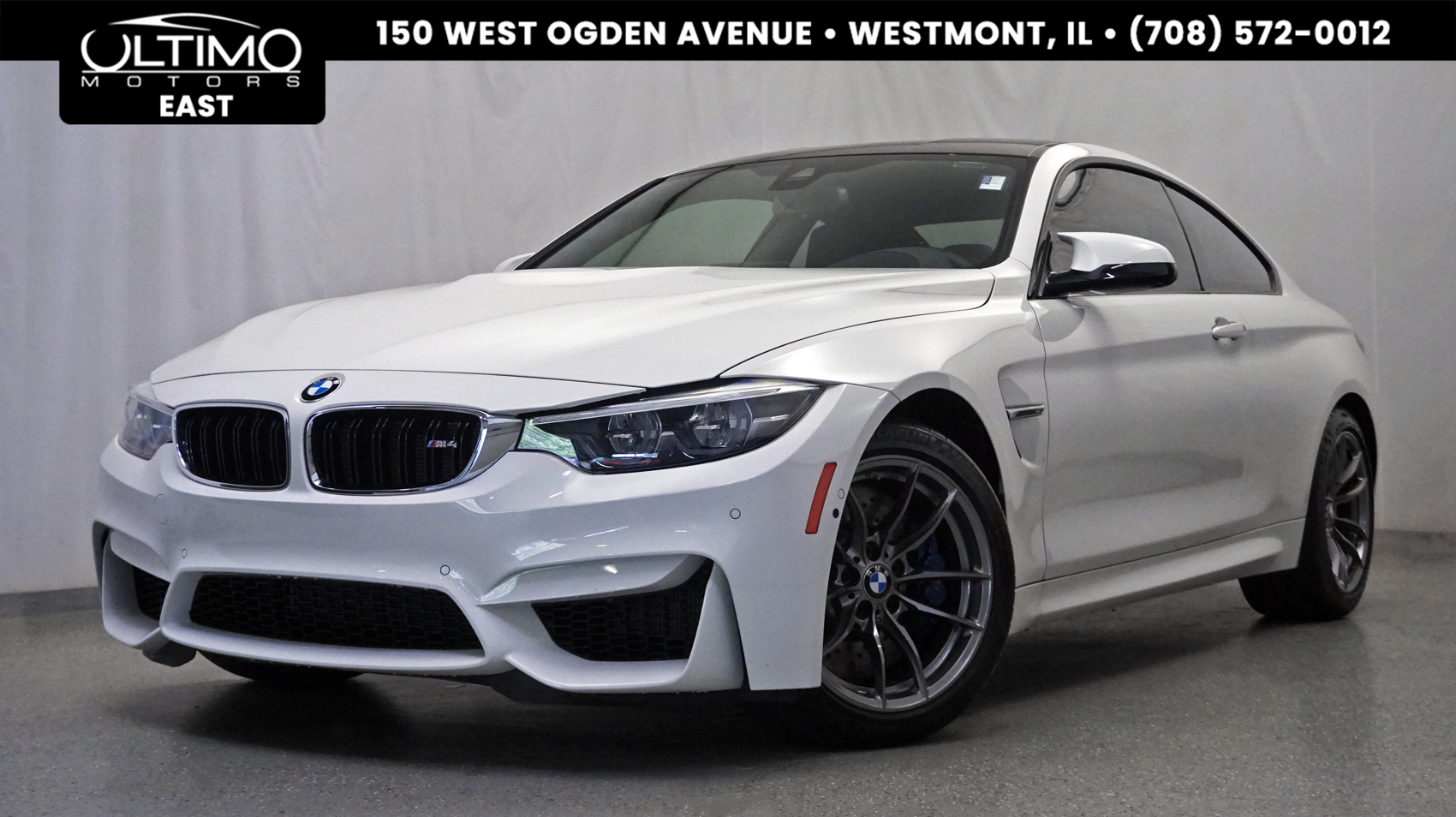 Pre-Owned 2018 BMW M4 6-Speed Manual, Executive Pkg, Heads Up, Heated Steering, Blind Spot, Harman Kardon Sound