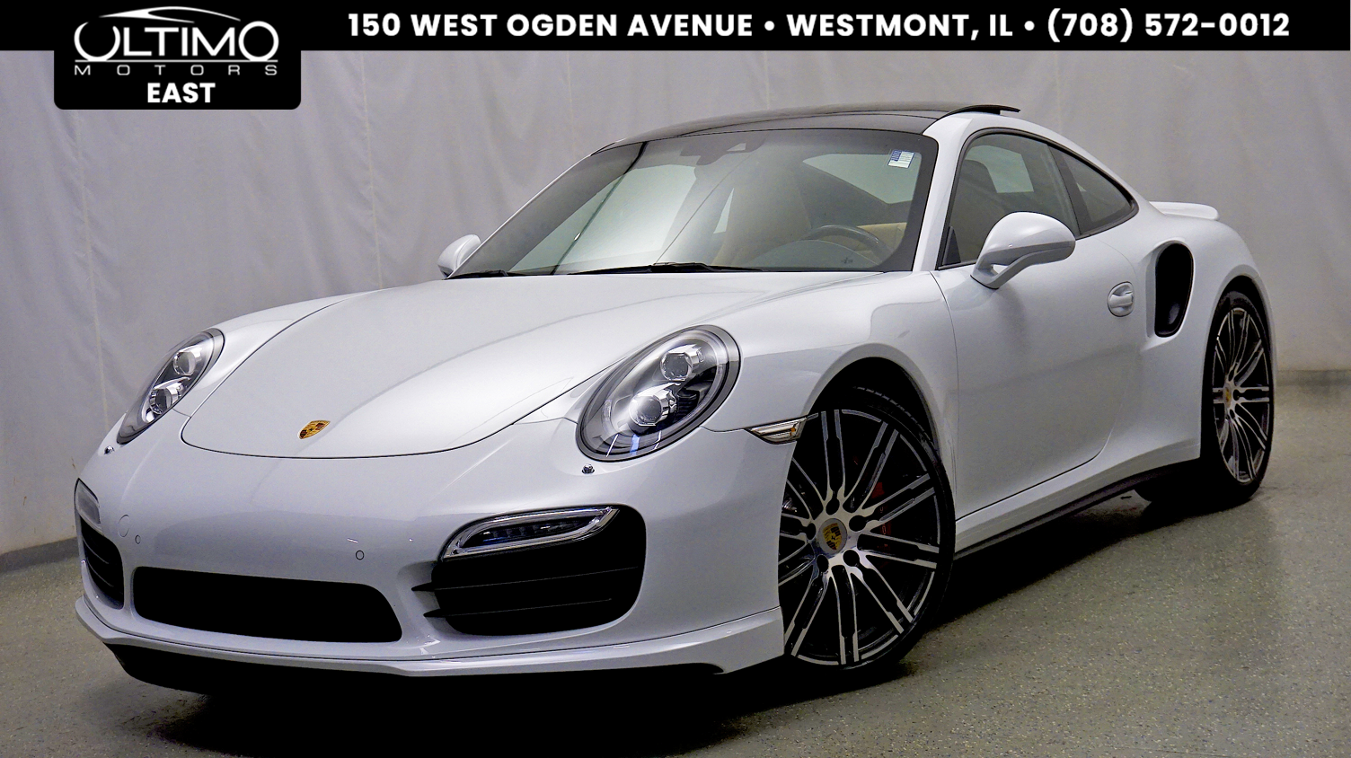 Pre-Owned 2015 Porsche 911 Turbo Sport Chrono Pkg, Premium Pkg Plus, Carbon Interior $170,145 MSRP