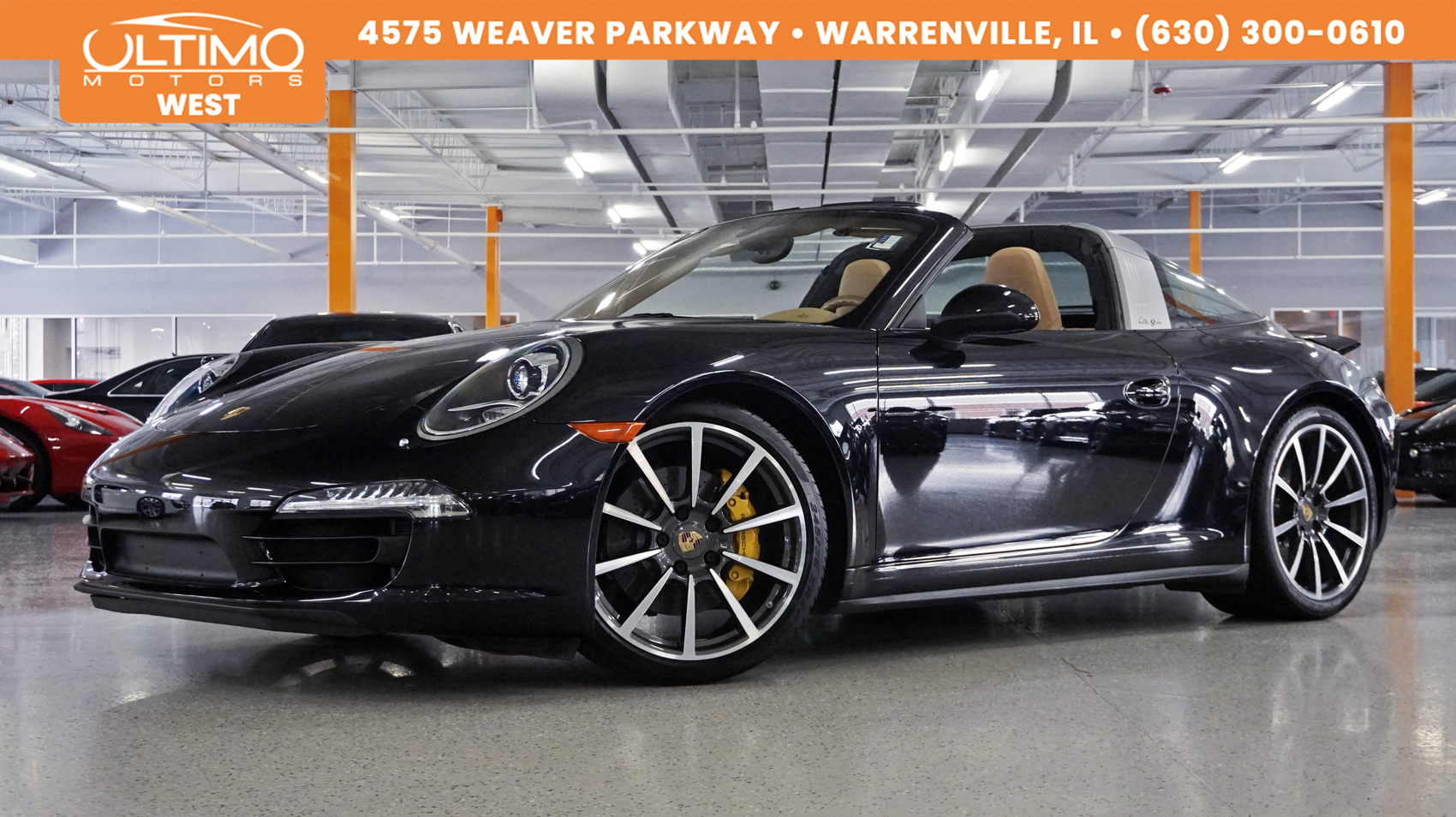 Pre-Owned 2015 Porsche 911 4S, Targa Top, PCCB, PDLS, Msrp $145,340