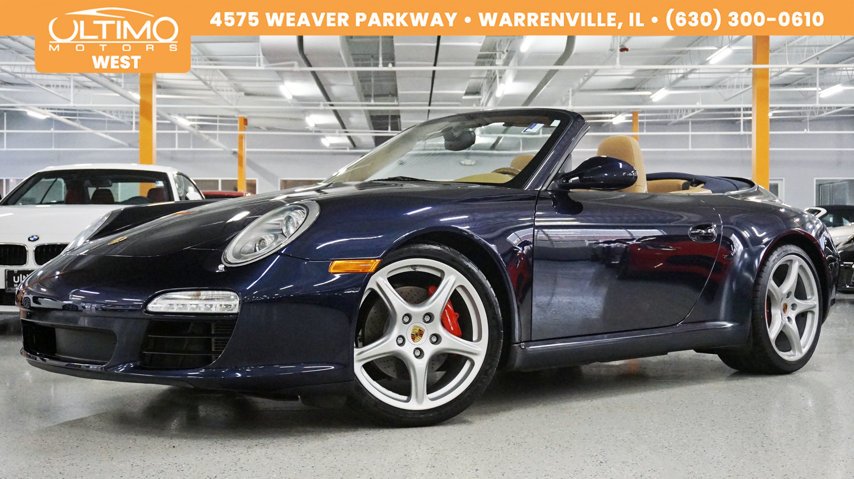 Pre-Owned 2009 Porsche 911 Carrera S Cab, PDK, Navigation, Bluetooth, Msrp$112,000