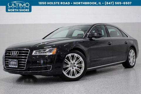 Pre-Owned 2015 Audi A8 L 3.0T, Premium Package, Driver Assistance, 20 Inch Wheels, Pano. Roof, Cold Weather.